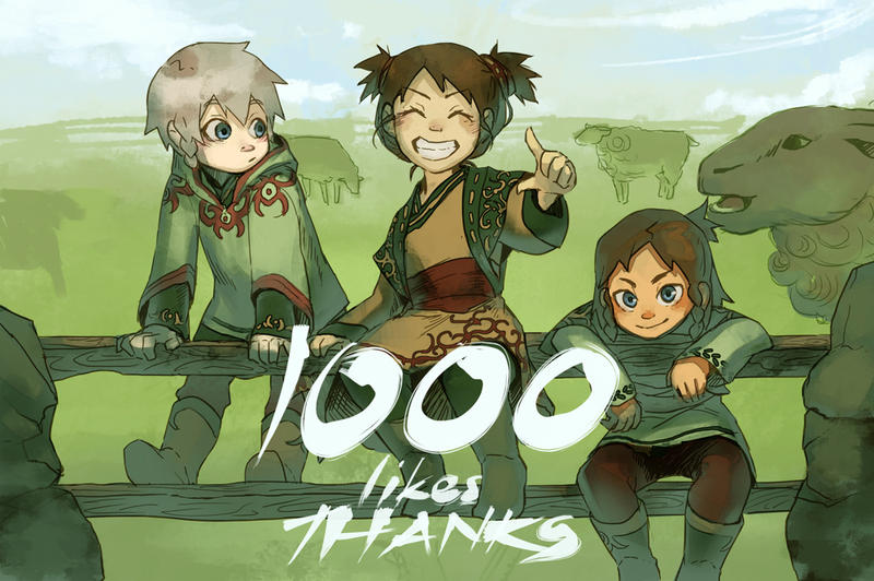1000 Likes on Facebook by N-Maulina