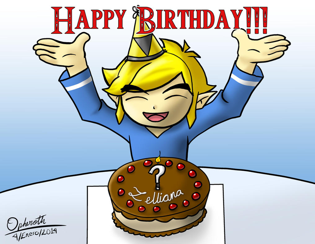 Happy Birthday Zelliana!!! by Opheroth