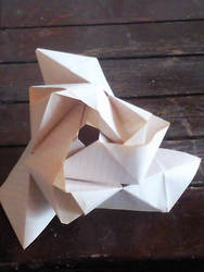 Blue Rose Origami Beta by Saltome