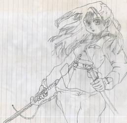 Female warrior by Saltome
