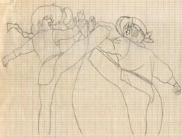 Ranma vs Ryoga by Saltome