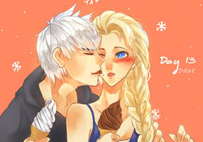 30 Day Challenge [Jelsa] Day 13 - Eating Icecream by Varo-DY