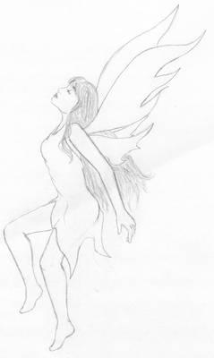 Flying Fairy B+W