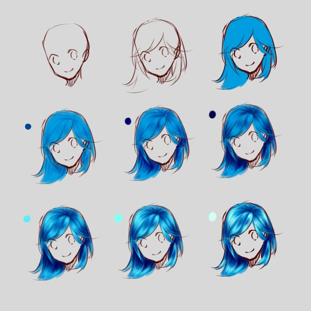 how i draw hair by holdspaceshift on deviantart