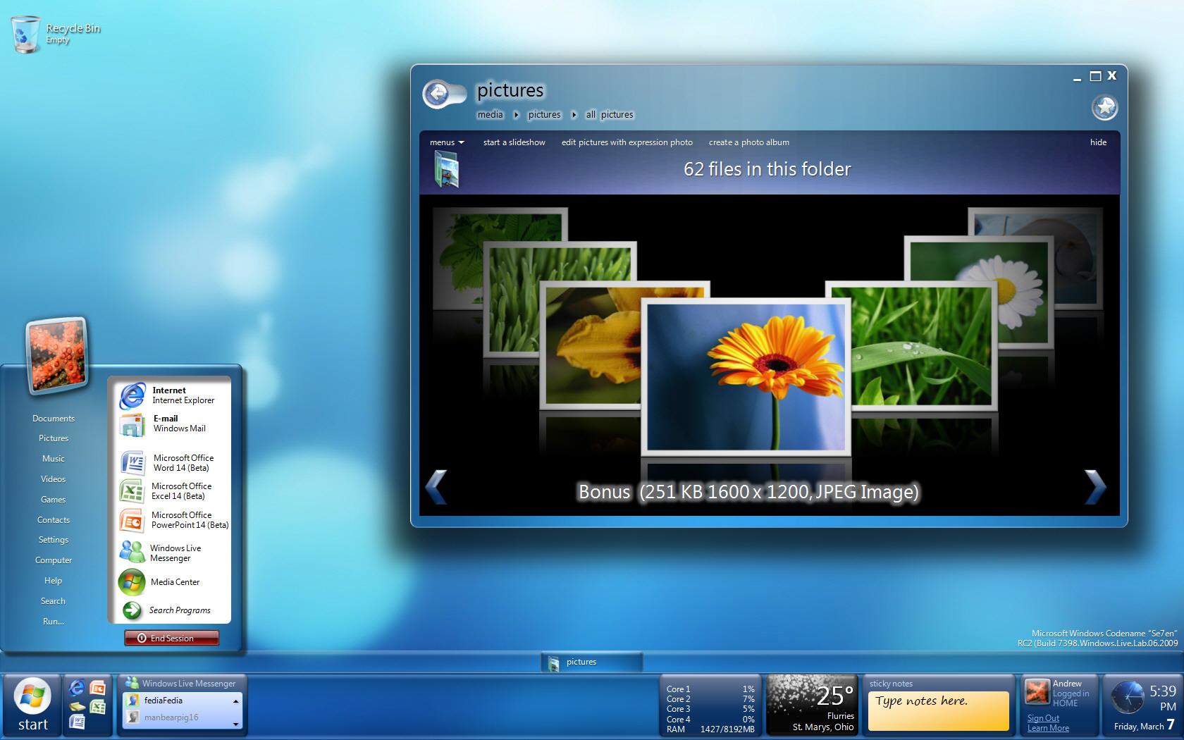 Windows 7 RC2