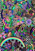 psychedelic garden by elle1981x
