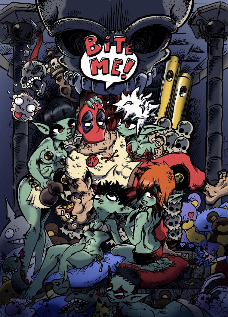 Deadpool Bite Me by earthwar-jim