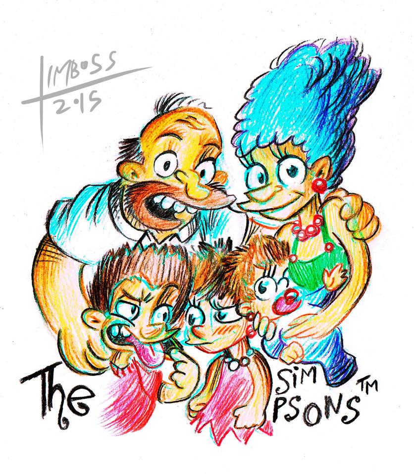 The Simpsoooooooooooons... by earthwar-jim