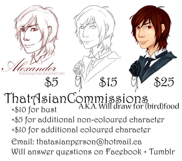 Commissions are OPEN! by thatasianperson