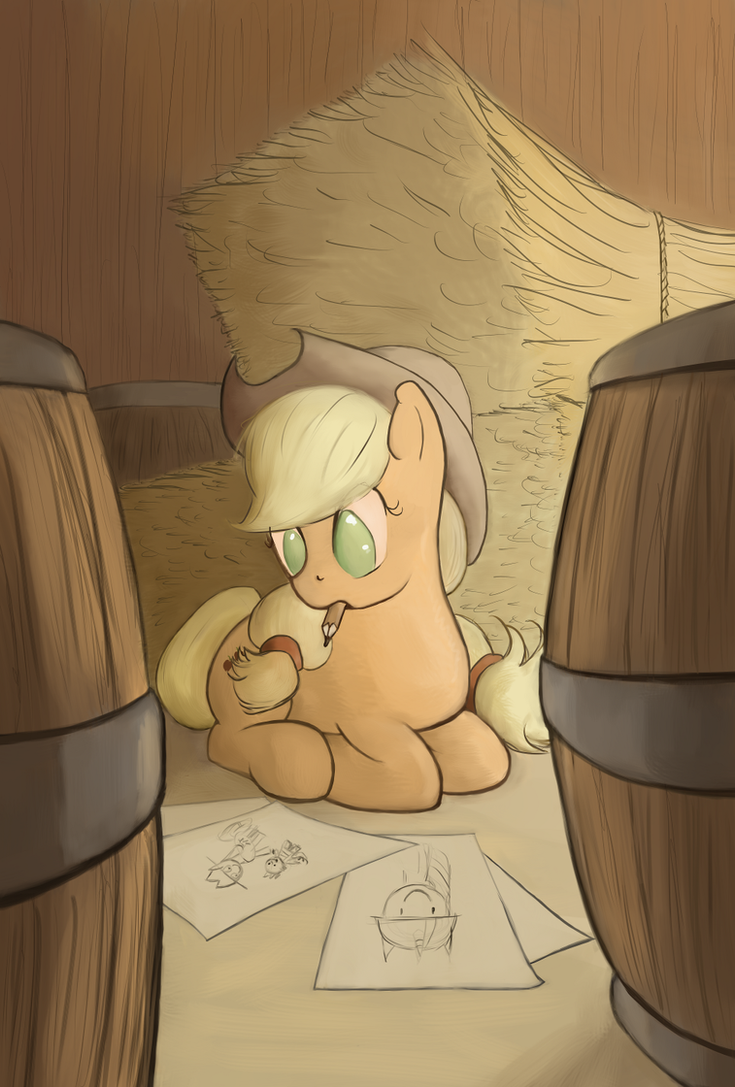 Applejack's Secret Hobby by Bakuel
