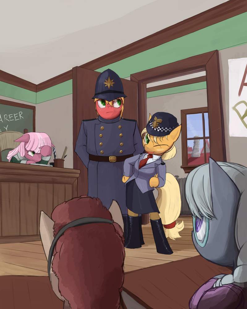 Apple Constables in a School by Bakuel