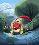 Cutie Mark Crusaders Catch Frogs