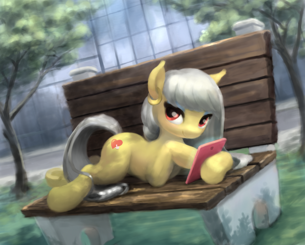 Interwebz on a Bench by Bakuel