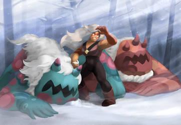 Jasper in a Blizzard by Bakuel