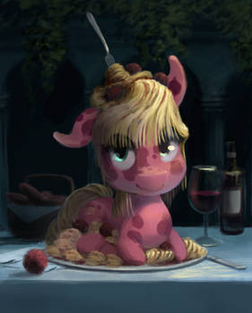 Spaghetti and Meatballs, Now With 100% More Pony!