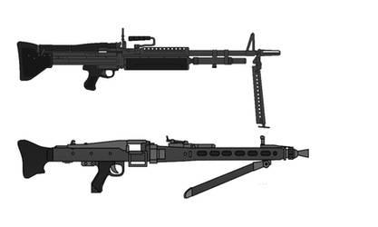 The MG42's Children: M60 and Rheinmetall MG3 by MartinKassemJ120