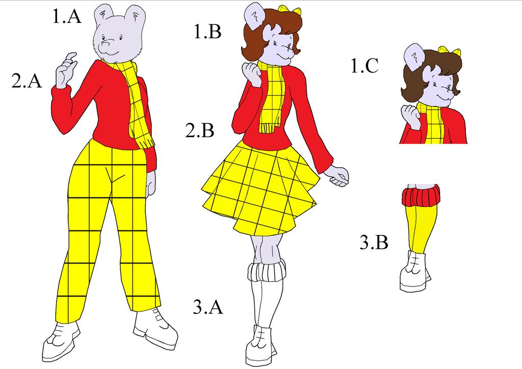 Female Rupert Bear Designs by CCB-18