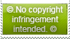 No Copyright Infringement Stamp by CCB-18