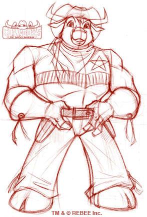 Moo Mesa: Marshal Moo Sketch by CCB-18