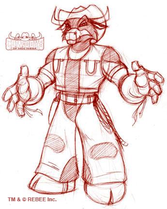 Moo Mesa: Cowlorado Kid Sketch by CCB-18