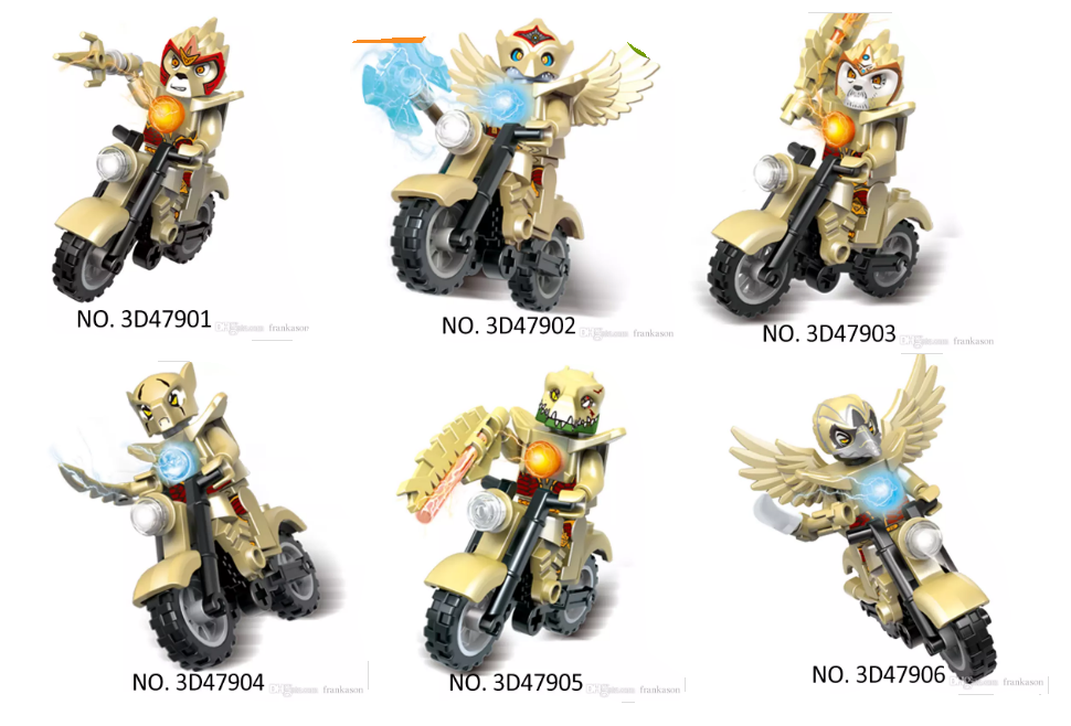 Golden Chimans on Motorbikes Set by CCB-18