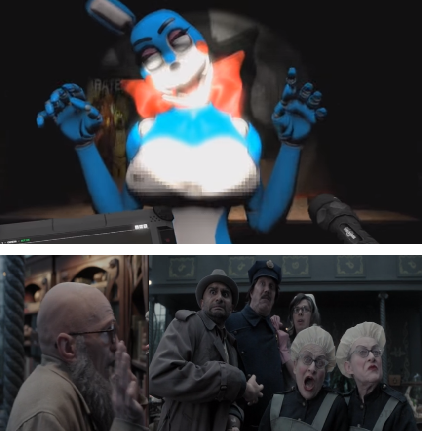 BonBon Scaring Olaf's Troupe by CCB-18