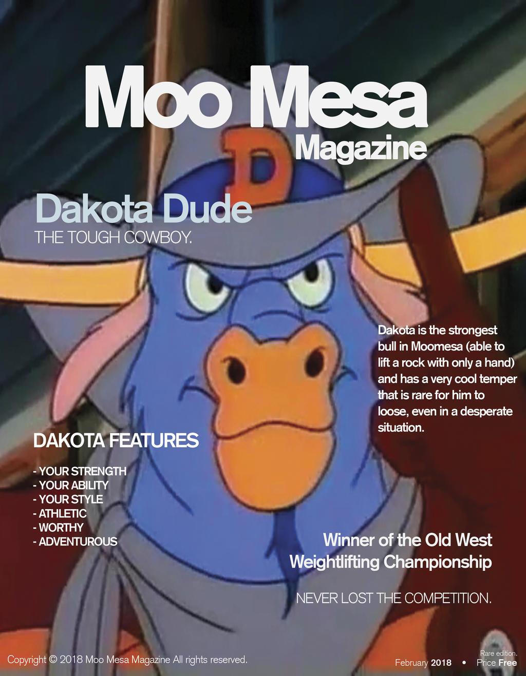 Moo Mesa Magazine #2: Dakota Dude by CCB-18
