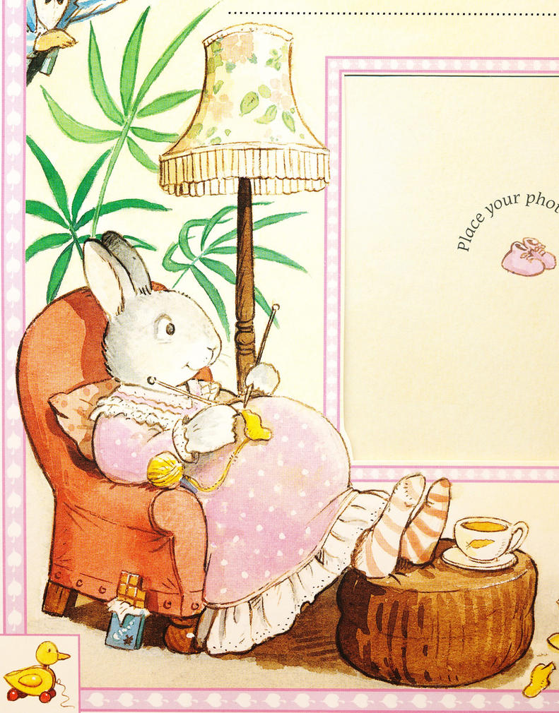 Mother-to-Be Rabbit Illustration by CCB-18