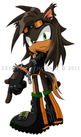 Sonic Chara: Umber the Black Dog by Zephyros-Phoenix