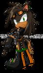 Sonic Chara: Umber the Black Dog