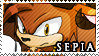 STAMP: Sepia the Satyr by Zephyros-Phoenix