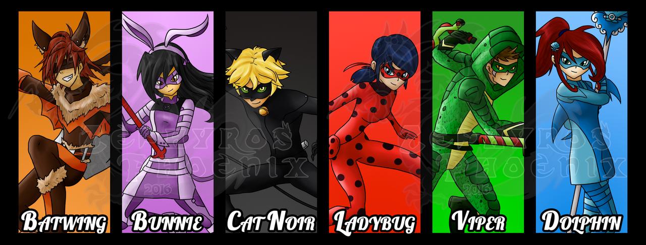 Team Miraculous Lineup By Zephyros Phoenix On Deviantart