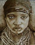a woman-my pyrography