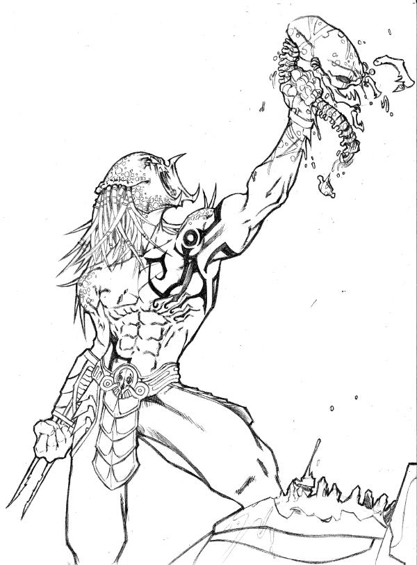predator vs jason coloring pages - photo#11