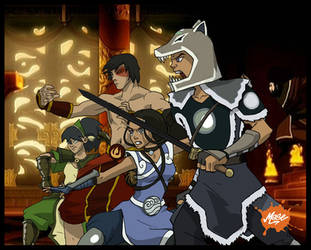 gAang Fight by mase0ne