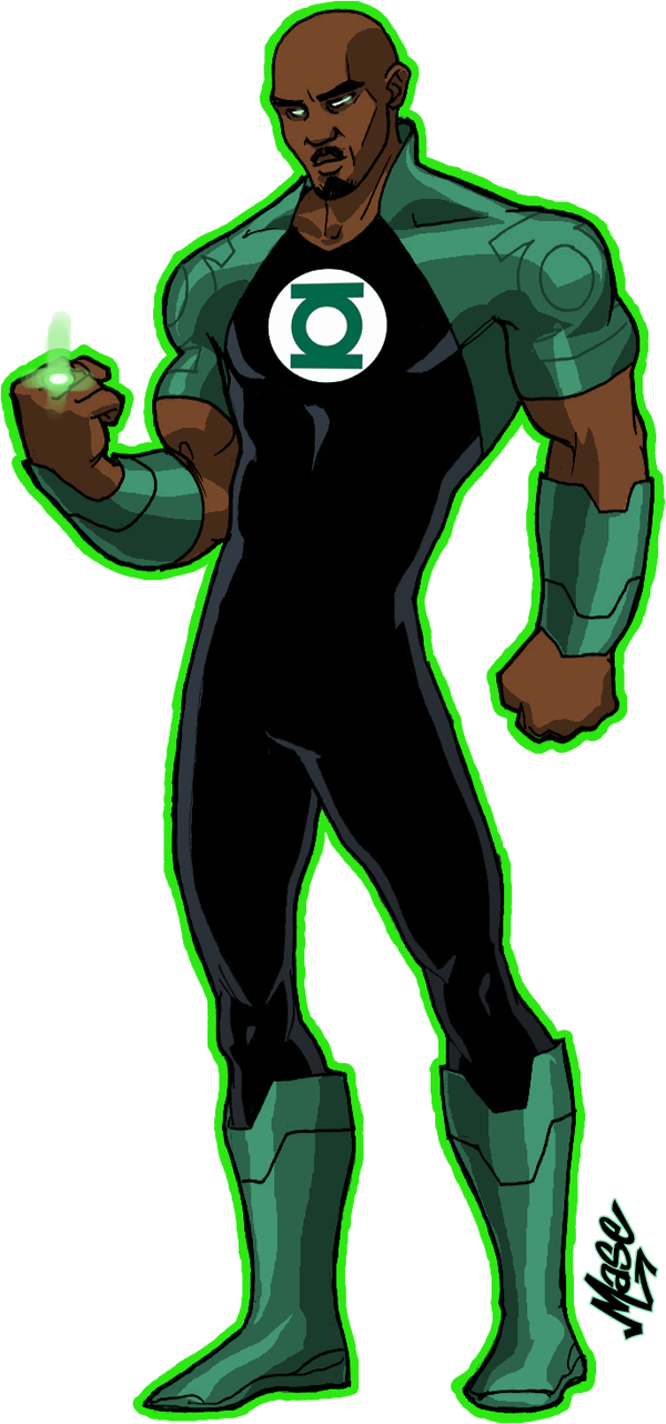 Green Lantern Redesign by mase0ne