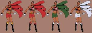 Black Superwoman Colortest by mase0ne