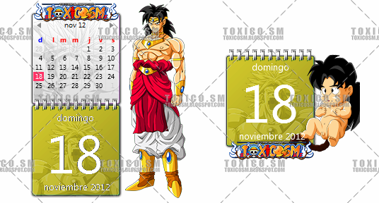 CALENDAR WIN7 BROLY by ToxicoSM