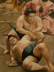 Sumo Wrestlers by OrangeJules