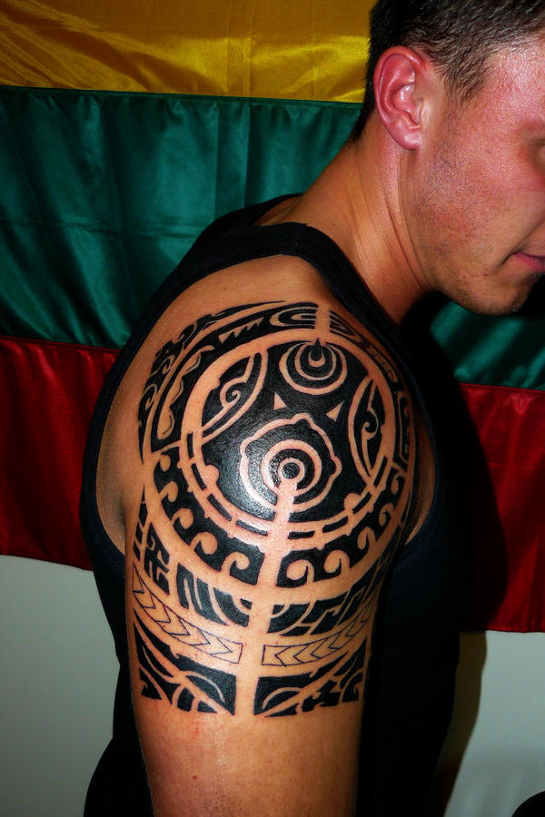 shoulder tribal tattoos. Polynesian Style Tribal tattoo
