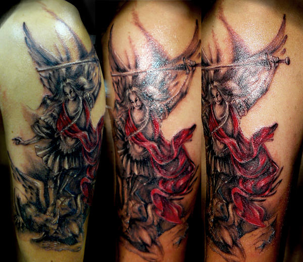 Archangel tattoo by devilsarm
