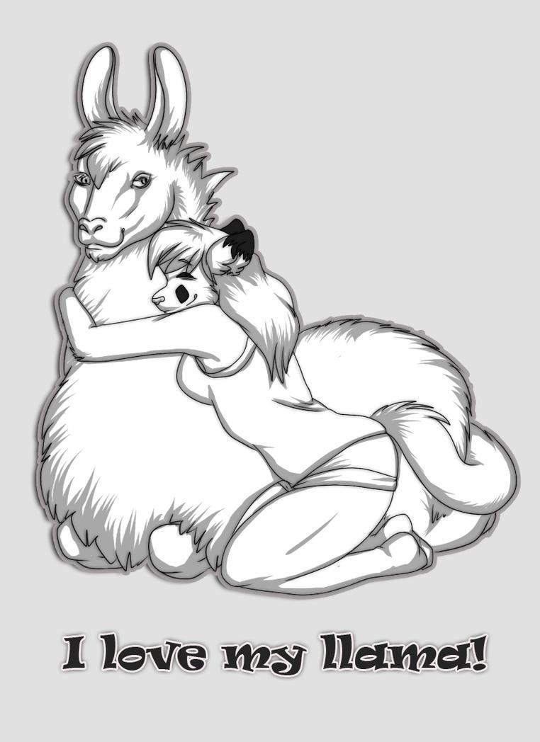 I love my llama by Akiana-Reverie