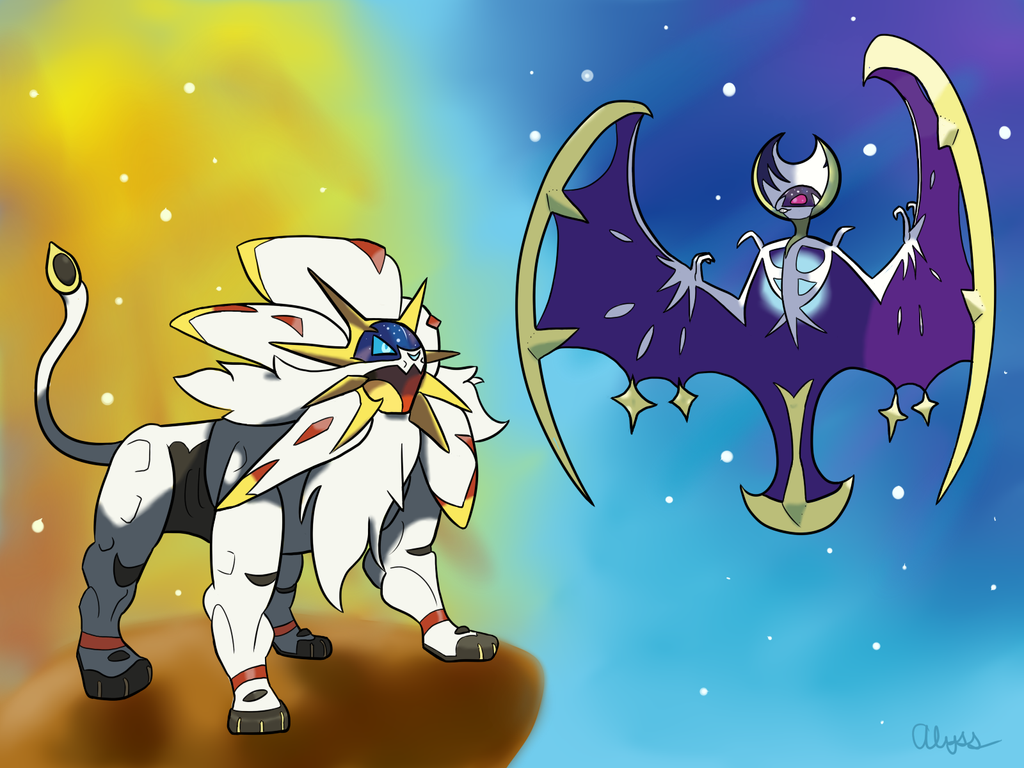 Solgaleo and Lunala by DrPepperPerson on DeviantArt