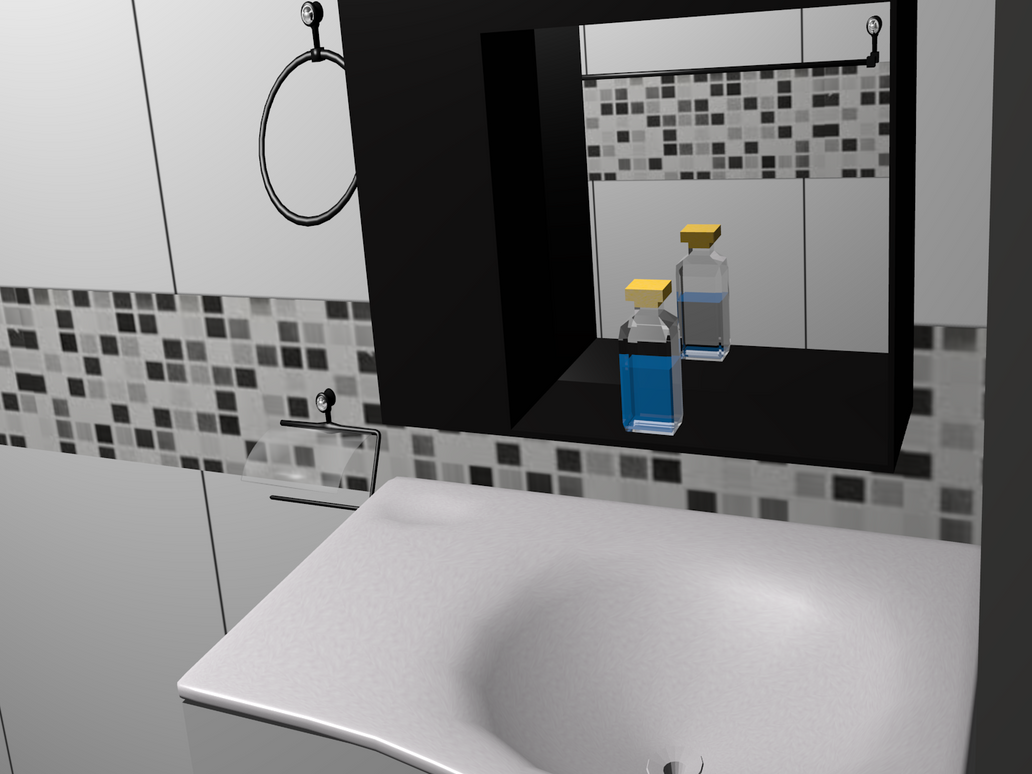 WIP my house (area bathroom) by Lcs300