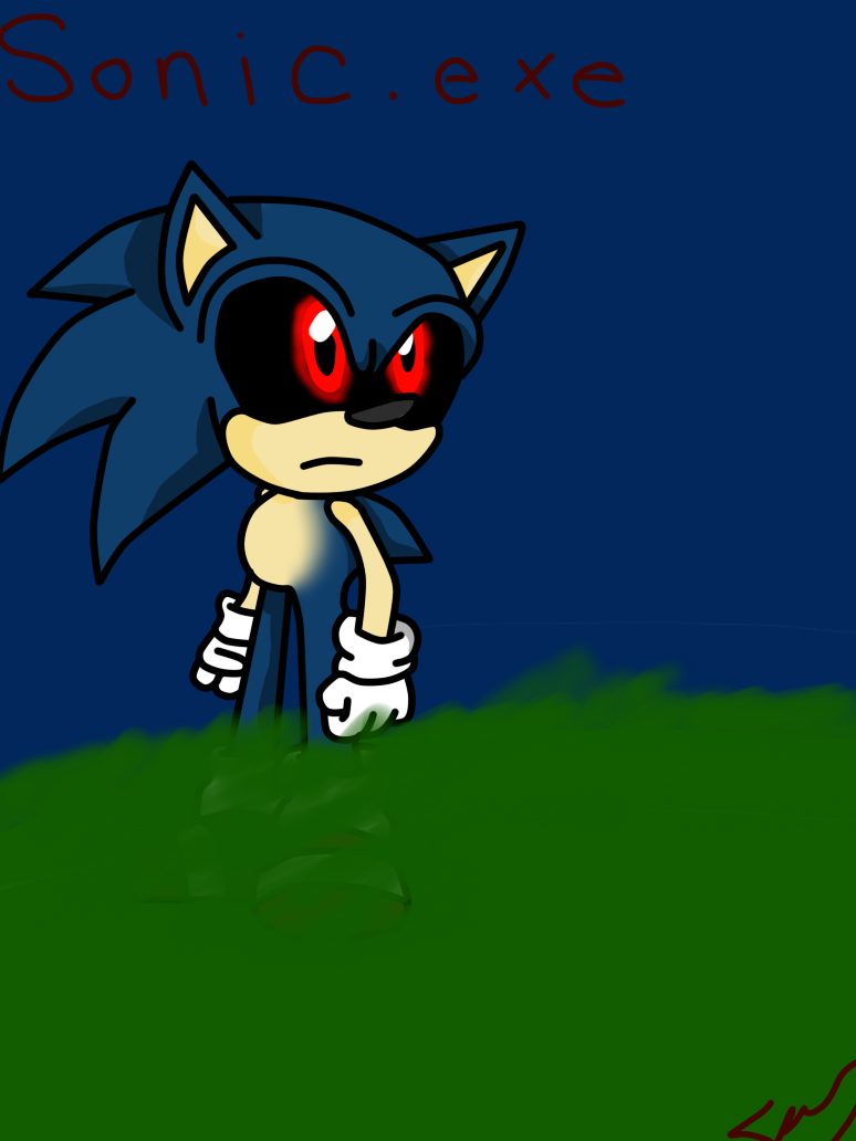 Sonic.exe -REDRAWN- by ChickenNuggetGalaxy