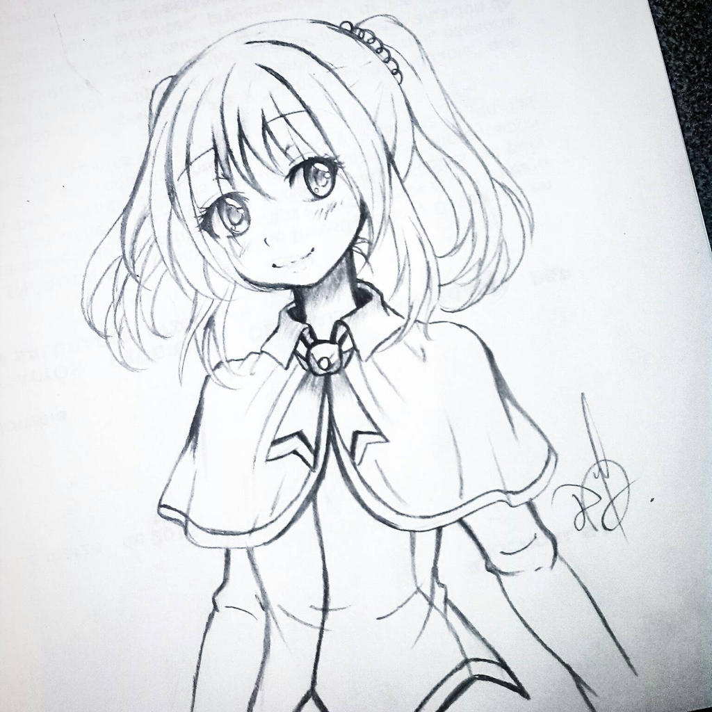 Little Girl Draw By Ilovetheanime On Deviantart