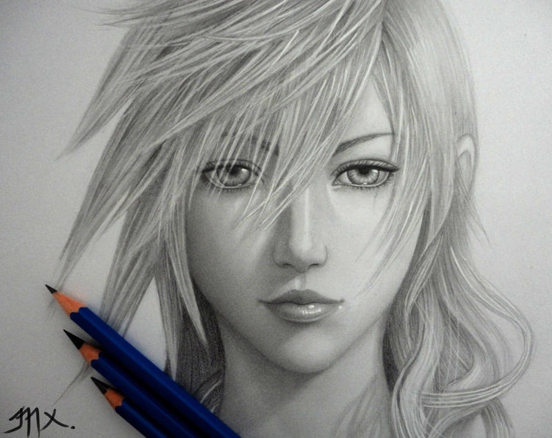 Lightning (Claire Farron) by 8Bpencil