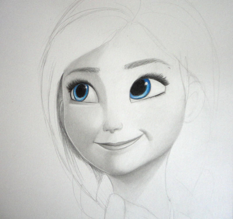 Drawing Pictures of Frozen Frozen Anna Drawing Pencil
