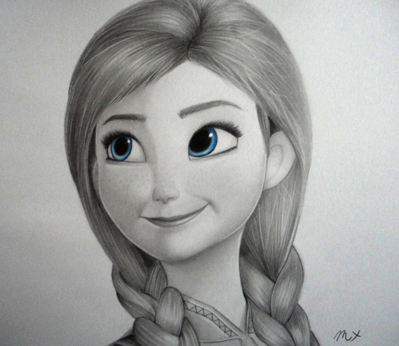 Anna-Frozen by 8Bpencil