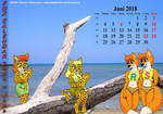 Fox Calendar 2018 - June by micke-m